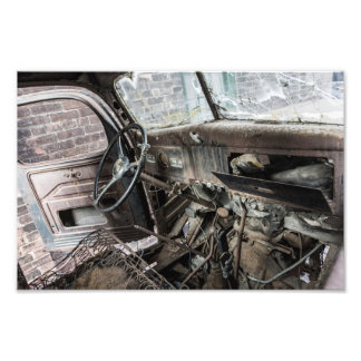 Rusted Truck Interior Photo Print