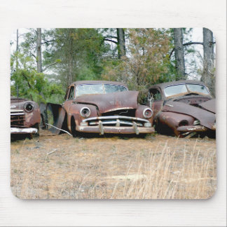Rusted Wrecks Mouse Pad