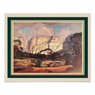 Rustenburg Kloof S. Africa by J.H. Pierneef  16x20 Poster