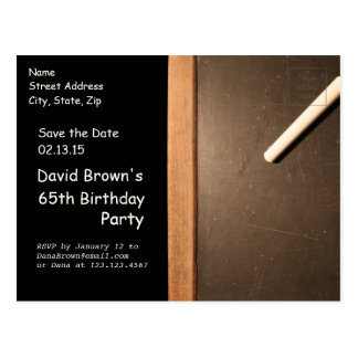 Rustic 65th Birthday Save The Date - Customizable Postcard