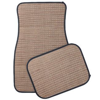 Rustic Abstract Burlap Brown Beige Tan Car Mats Car Mat