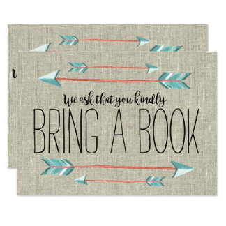 Rustic Adorned with Arrows | Bring a Book Card