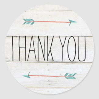 Rustic Adorned with Arrows | Thank You Sticker
