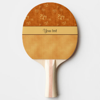 Rustic Amber  & Butterflies Ping-Pong Paddle