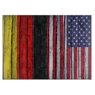 Rustic American Flag and German Flag Boards