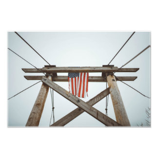 Rustic American History Photo Print