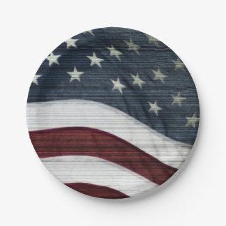Rustic Americana Paper Plates