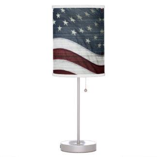 Rustic Americana Table Lamp