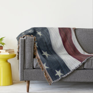 Rustic Americana Throw Blanket