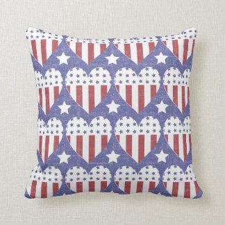Rustic Americana Throw Pillow