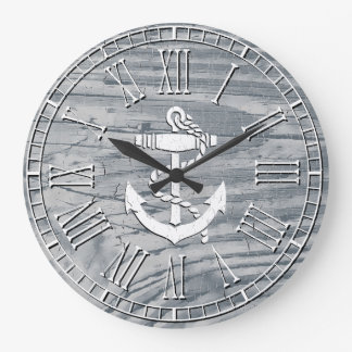 Rustic Anchor Your Color Finish Wallclock