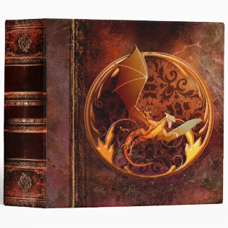 Rustic Ancient Tome Faux Brown Leather Dragon Binders