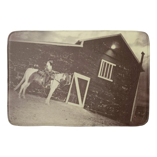 Rustic and Real Cowgirl Bathmat
