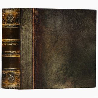 Rustic Antique Ancient Tome Faux Brown Leather Binders