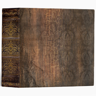 Rustic Antique Ancient Tome Faux Brown Vinyl Binders