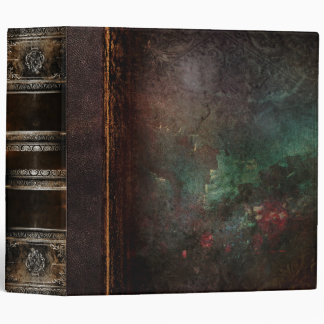 Rustic Antique Ancient Tome Faux Leather Vinyl Binders