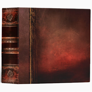 Rustic Antique Ancient Tome Faux Red Leather Vinyl Binders