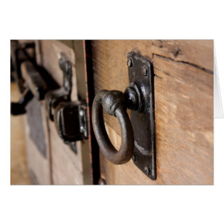 Rustic Antique Door Pull and Latch Card