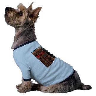 Rustic Antique Library Books Shelf Dog Tshirt