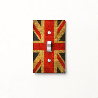 Rustic Antique Union Jack Flag Light Switch Cover