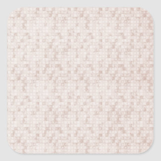Rustic Apricot Square Sticker