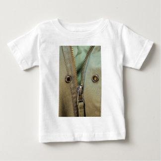 Rustic Army Green Zipper Print Baby T-Shirt