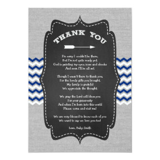 Rustic Arrow Baby Shower Thank you note with poem Card