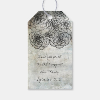 Rustic Art Succulent Wedding Favor Gift Tag