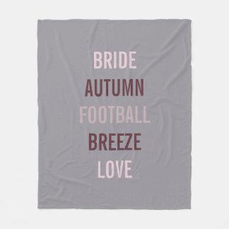 Rustic Autumn Bride Tailgate Party Fleece Blanket