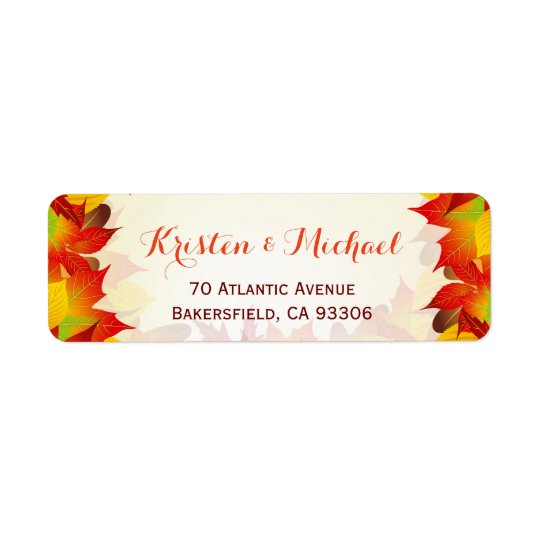 Rustic Autumn Gold Red Leaves | Fall Season RSVP