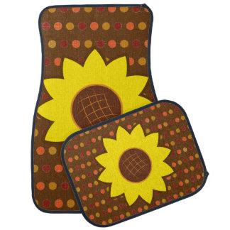 Rustic Autumn Sunflower Auto Mat