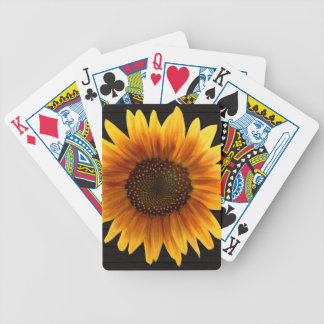Rustic Autumn Sunflower Bicycle Playing Cards