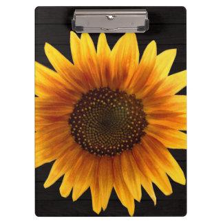 Rustic Autumn Sunflower Clipboard