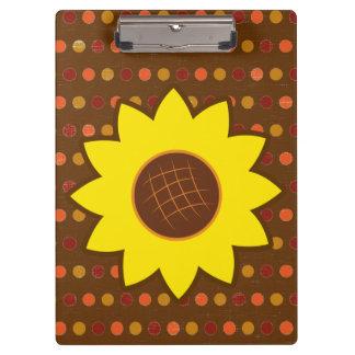 Rustic Autumn Sunflower Clipboards