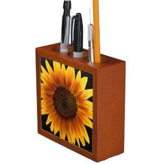 Rustic Autumn Sunflower Desk Organizer