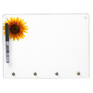 Rustic Autumn Sunflower Dry Erase Board With Keychain Holder