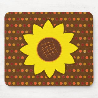 Rustic Autumn Sunflower Mouse Pad