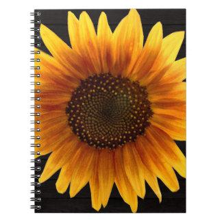 Rustic Autumn Sunflower Notebook