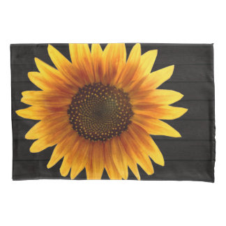 Rustic Autumn Sunflower Pillowcase