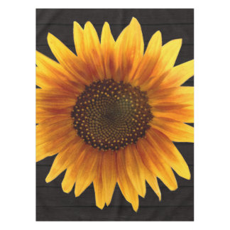 Rustic Autumn Sunflower Tablecloth