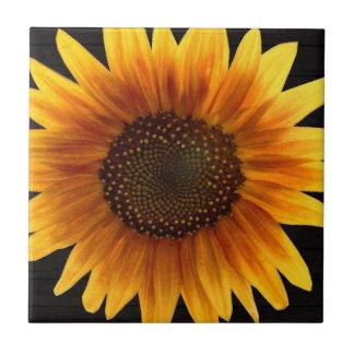 Rustic Autumn Sunflower Tile