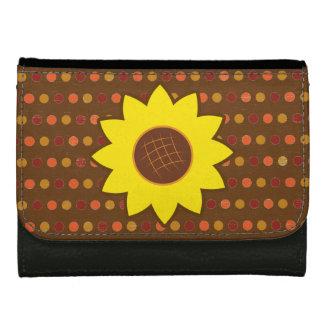 Rustic Autumn Sunflower Wallets For Women