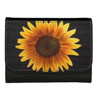 Rustic Autumn Sunflower Women's Wallet