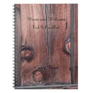 Rustic B&B Guest Book, Old Red Barn Wood Siding Notebooks