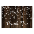 Rustic Baby It's Cold Outside Winter Thank You Card