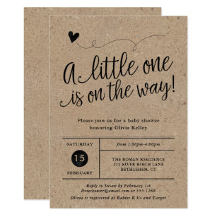 Baby shower invitations announcements zazzle ca rustic baby shower kraft gender neutral invitation filmwisefo