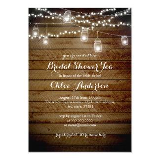Rustic Backyard High Tea Bridal Shower Invitation