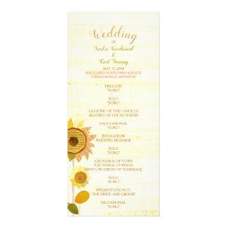 Rustic Backyard Sunflowers Wedding Program