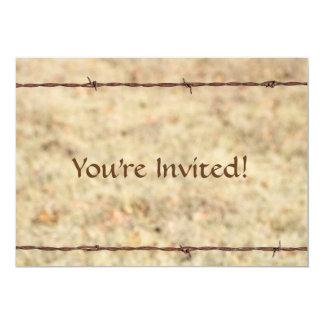 Rustic Barbed Wire Invitation Card