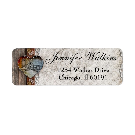 Rustic Barn Country Wedding  Address Labels